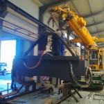 DGA Devecser 45 tonnás megmunkáló központ daruzása