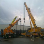 JOST Veszprém 70 tonnás présgép kitelepítése csarnokból, és trailerre daruzása (1)