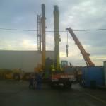 JOST Veszprém 70 tonnás présgép kitelepítése csarnokból, és trailerre daruzása (10)