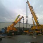 JOST Veszprém 70 tonnás présgép kitelepítése csarnokból, és trailerre daruzása (12)