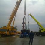 JOST Veszprém 70 tonnás présgép kitelepítése csarnokból, és trailerre daruzása (2)