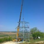 Kislőd kötélpálya építése