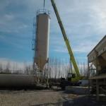V-M Technik Kft. mobil betonkeverő telepítése