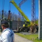 Nyirád transformátor állomás trailerre rakása (1)