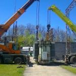 Nyirád transformátor állomás trailerre rakása (2)